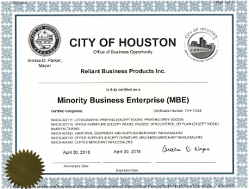 Reliant Minority Business Enterprise - PDF File